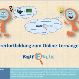 Anmeldefirst verlängert: Fortbildung zum Online-Experimentier-Angebot Kniffelix