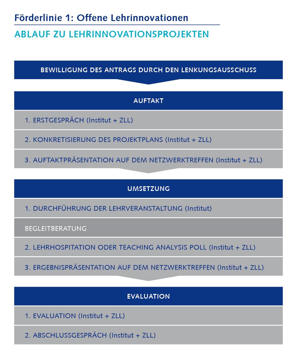 Prozess der Lehrinnovationen Förderlinie 1