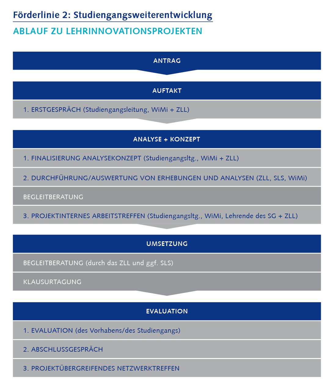 Prozess der Lehrinnovationen Förderlinie 2