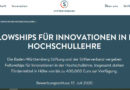 Call for applications: Fellowships for innovation in higher education teaching